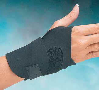 ComfortpreneTM Wrist Wrap, kurz, schwarz